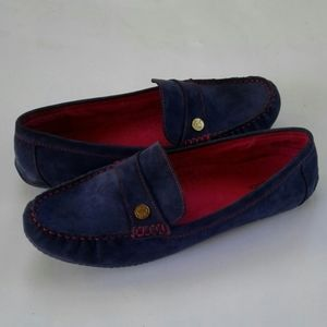 G.H. BASS & CO. BLUE SUEDE LOAFERS